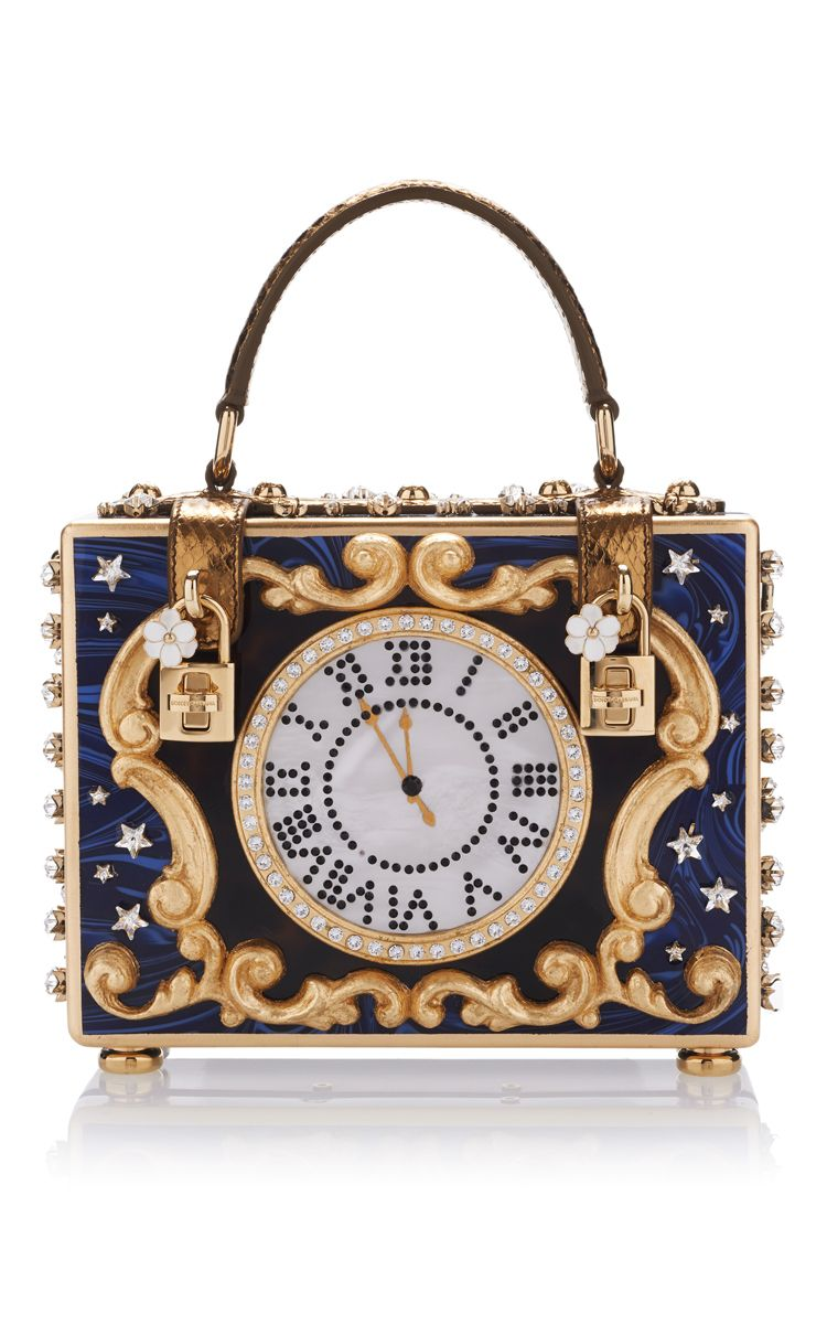 32b8178c29 Dolce   Gabbana Enchanted Clock Box Bag. Such Alice in wonderland vibes
