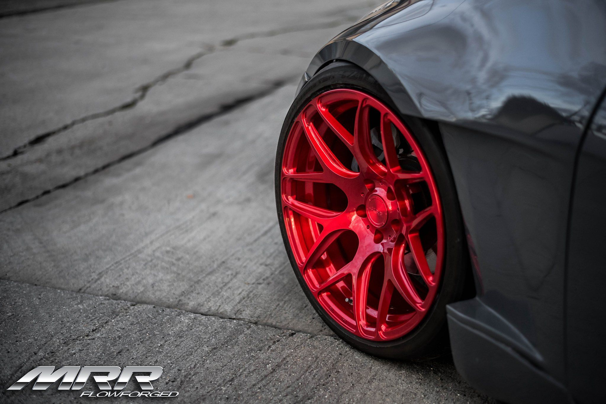 Candy Red MRR Custom Wheels Photo by MRR Nissan 350z