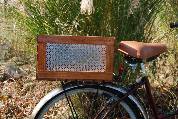 Bike Cargo Box Union Jack Rear Mount Wood Box Little Wooden
