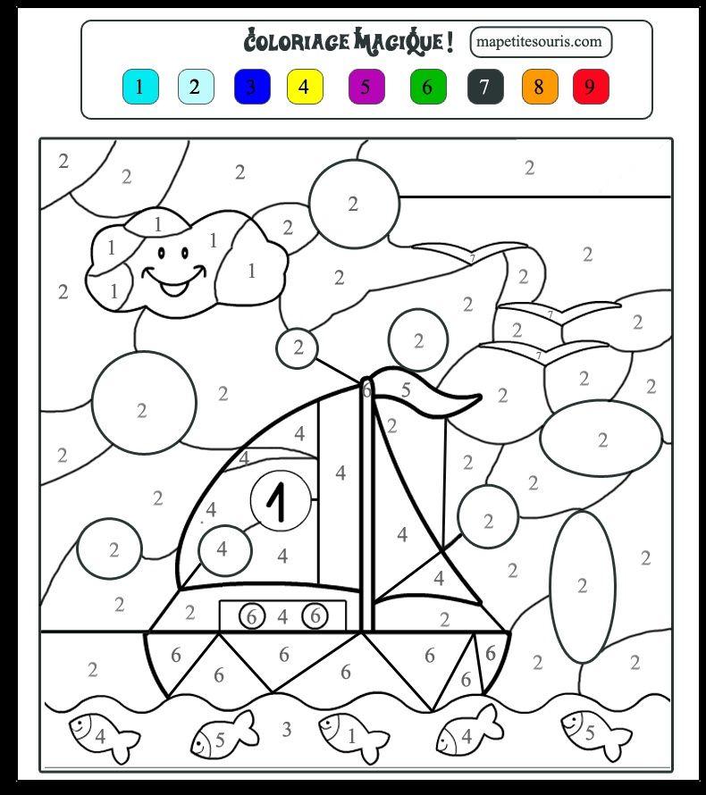 Coloriage Magique Bateau Maternelle Lovely Coloriage Magique