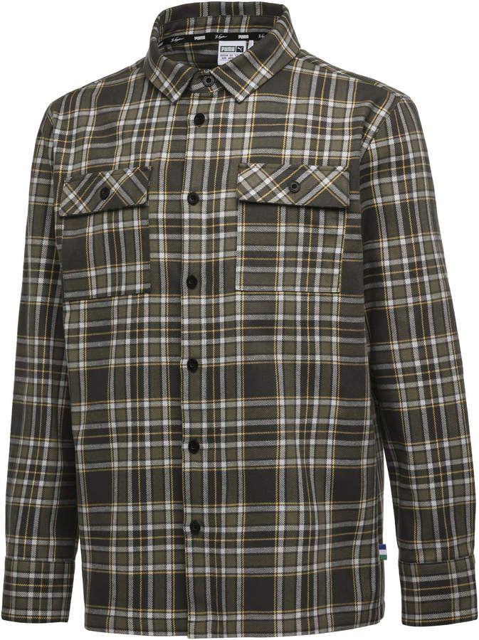 4a381b98af PUMA x BIG SEAN Long Sleeve Chequered Men's Shirt | camisa masculina ...
