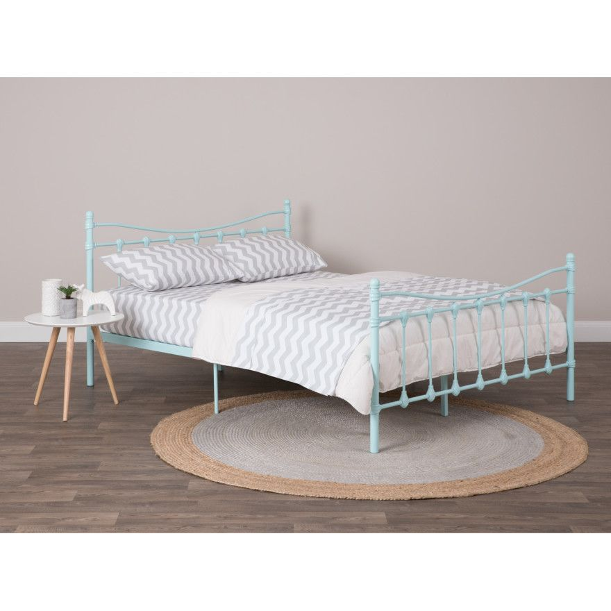 Cora Classic Metal Queen Bed Frame - Metal Powder Coated Steel Frame ...