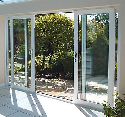 White Upvc 4 Pane Sliding Patio Doors Synseal 4200mm Wide X 2100mm High Exact Soors