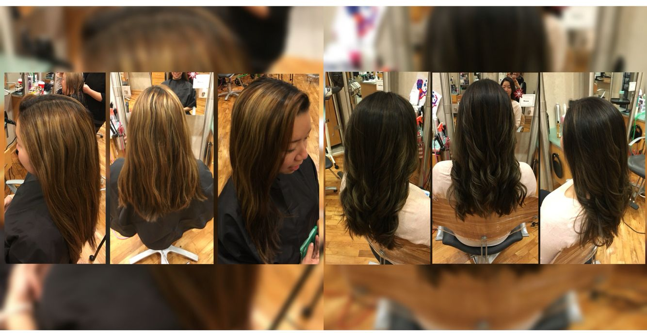 Before After With Ashley From Grown Out Full Head High Lights