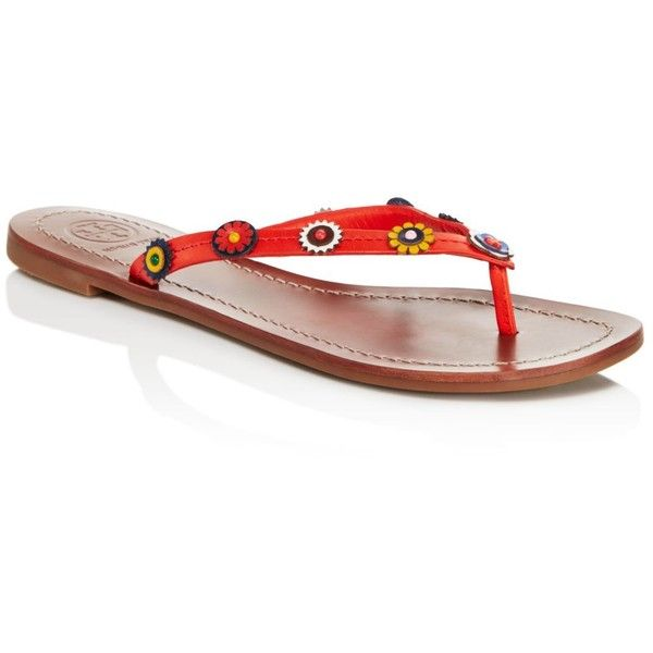 f191d7265 Tory Burch Marguerite Terra Thong Sandals ( 135) ❤ liked on Polyvore  featuring shoes