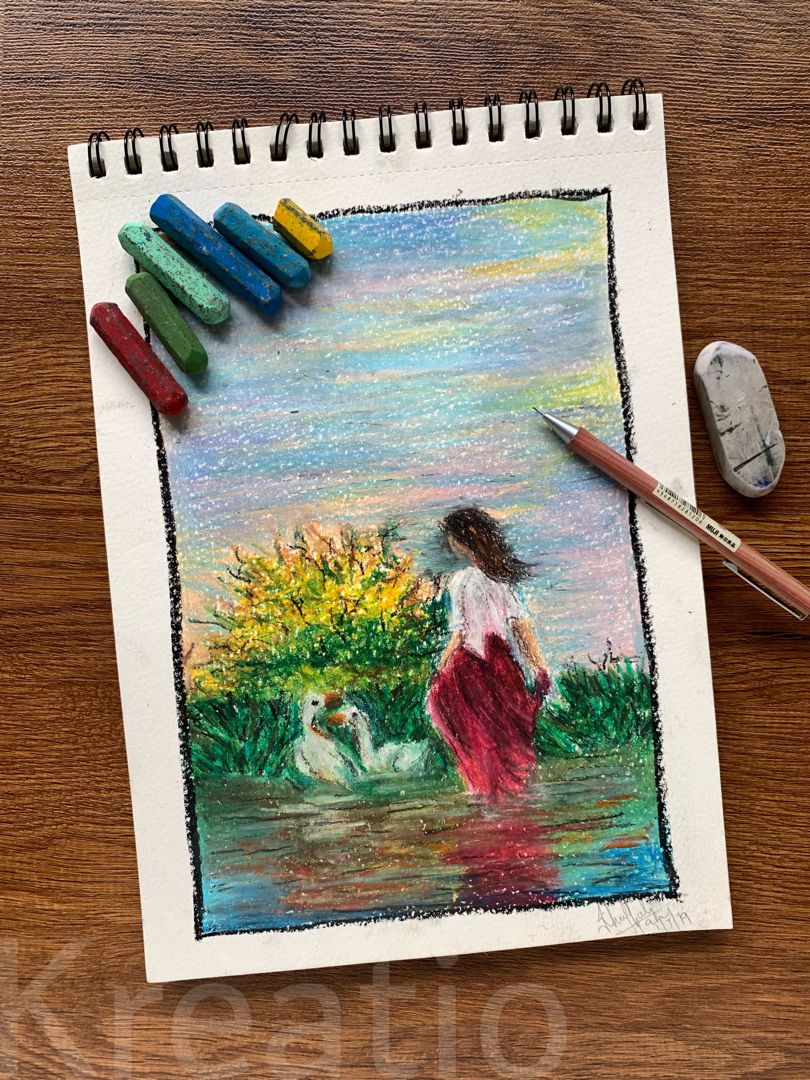 #Art  #ArtPainting #crayonart  #Painting  #BeautifulPaintings  #LandscapePaintings  #FigurePainting  #BeautifulArt  #VisualArt  #IllustrationArt  #WomanPainting  #FemaleArt  #AustralianArtists  #Artist  #AmazingArt  #VintageArt  #WatercolorIllustration  #ArtPhotography  #ArtInspiration  #CoolArt  #Impressionist #kreatio #oilpastels #selflovequotes