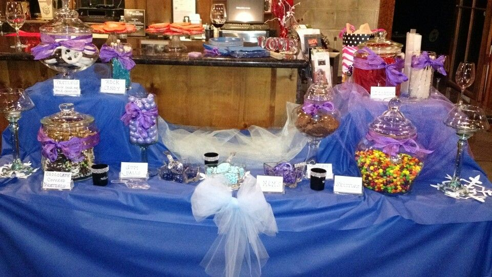 21st birthday candy table! Frozen Theme! :)