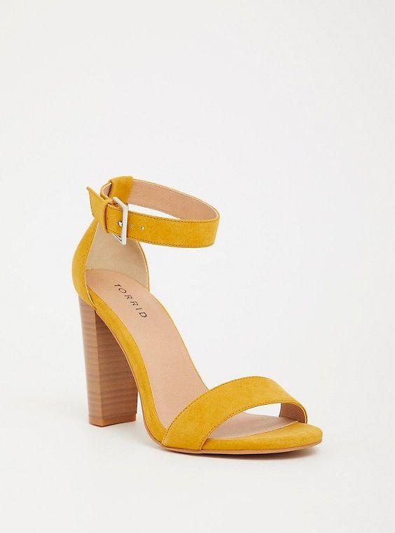 Mustard Ankle Strap Heel (WW) | Ankle