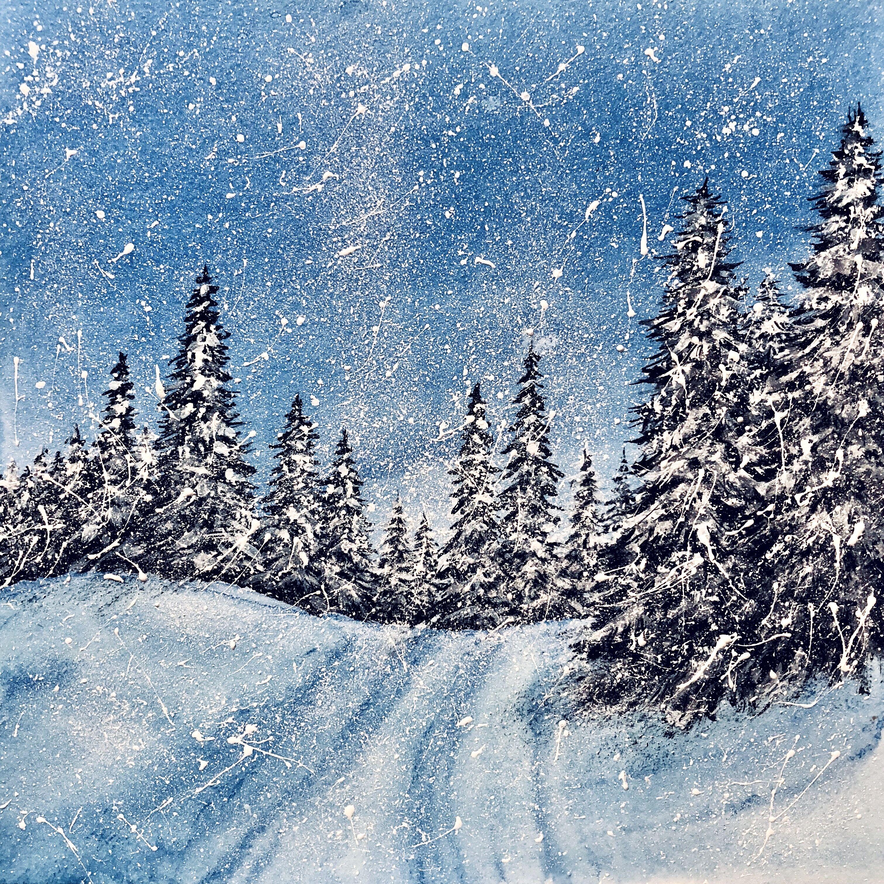 музыку или картинка зимнего пейзажа книжного варианта разделе описание товара
