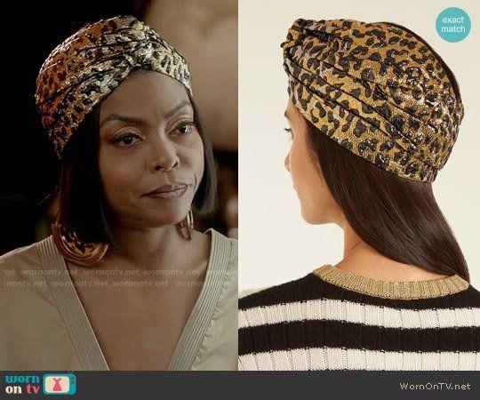 f8cf9d9ac1c Cookie s leopard turban on Empire. Outfit Details  https   wornontv.net