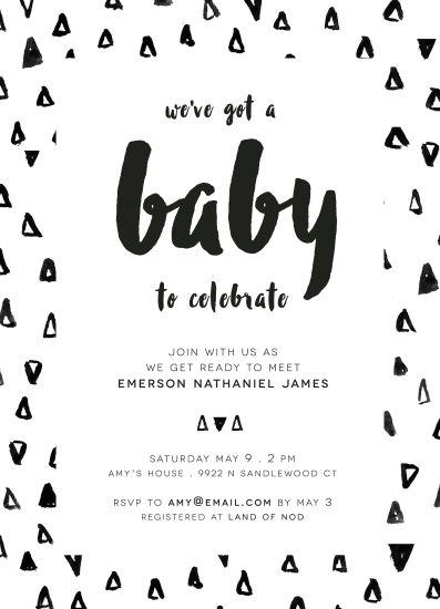 Baby Shower Invitations Black White Baby Modern Baby Shower Invitations Baby Shower Fall Baby Shower Fun