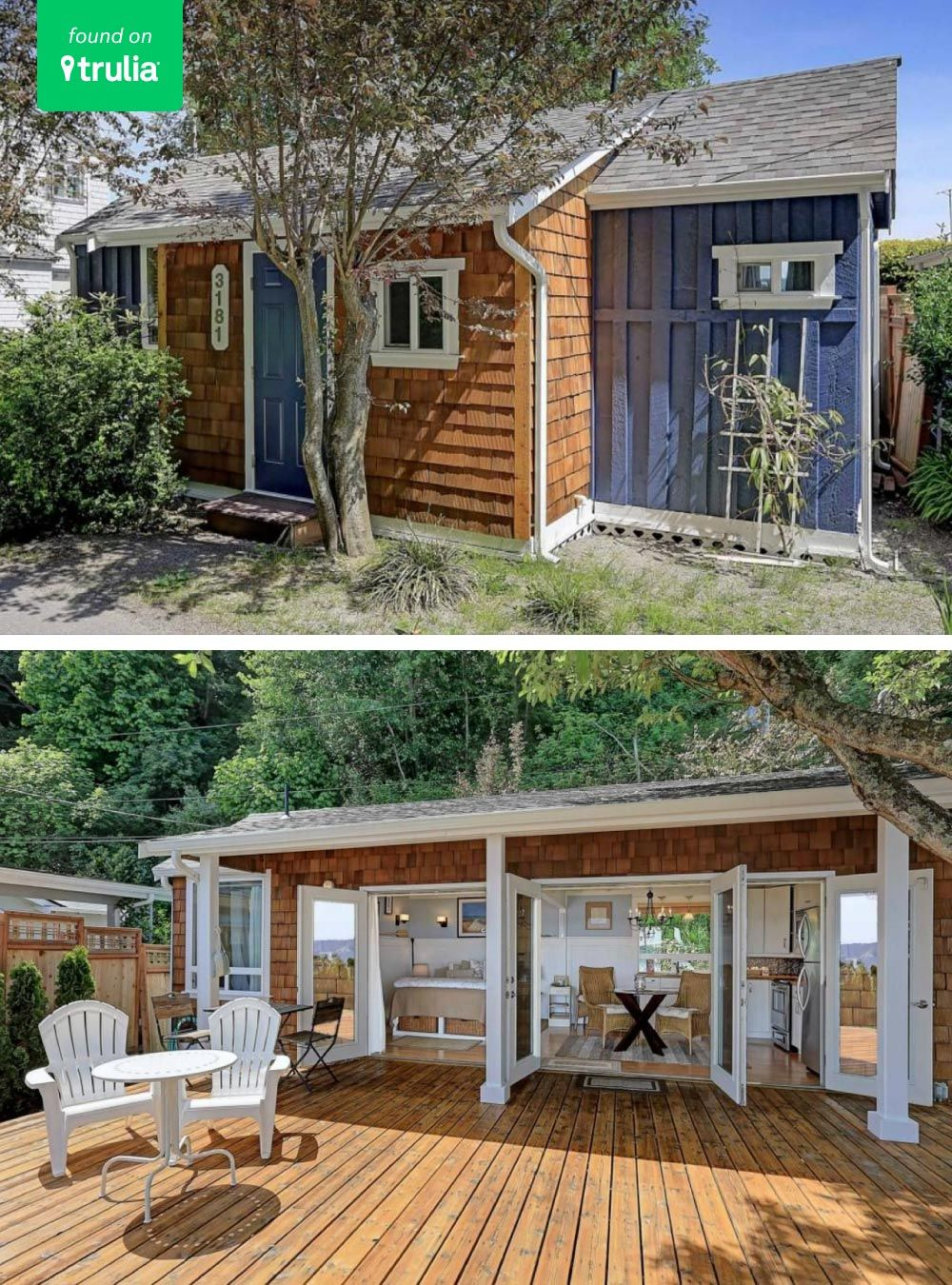 5 Little Houses Under 500 Square Feet Life At Home Trulia Blog Little Houses Little Houses For Sale Tiny House