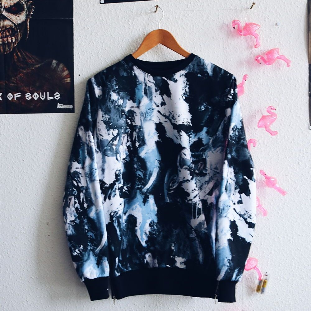 Criminal damage limited edition abstract sweater grosse xs