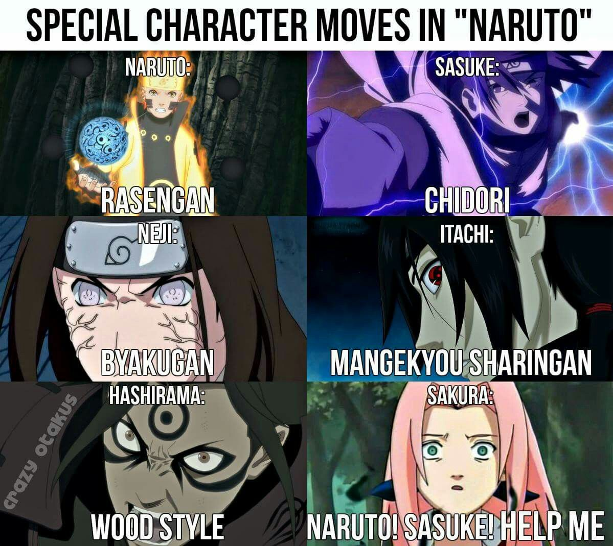 Naruto Shippuuden Meme Sasuke Sakura Useless Special Power Moves