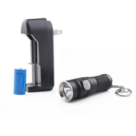 Guard Dog Forte 280 Lumen Keychain Flashlight, Black