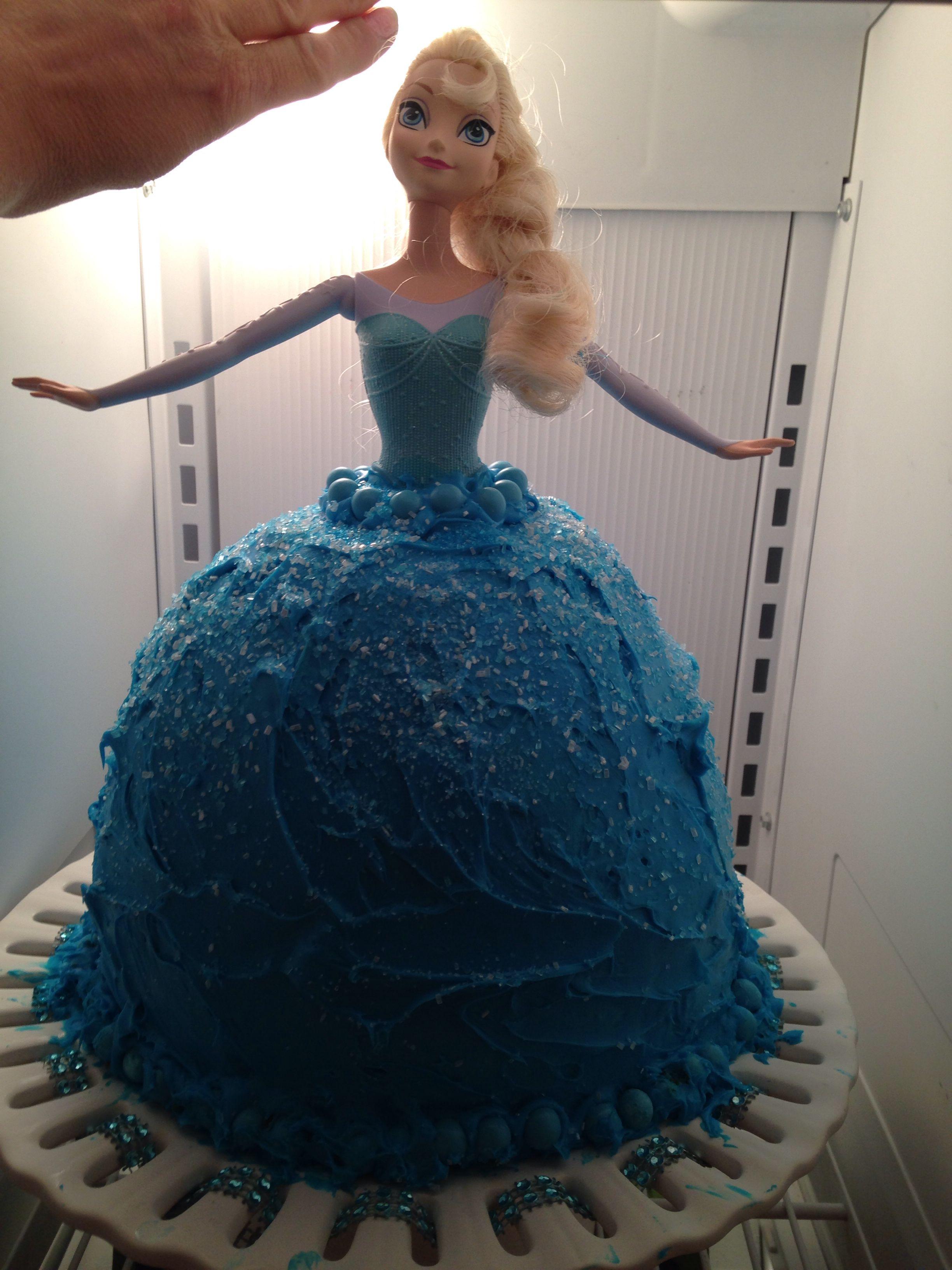 Disney frozen queen elsa cake princess cake barbie cake