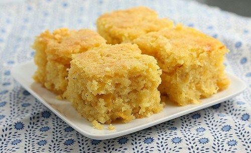 Cornbread from Blanchard's Restaurant, Anguilla - I want to try this recipe! Pineapple and jack cheese?