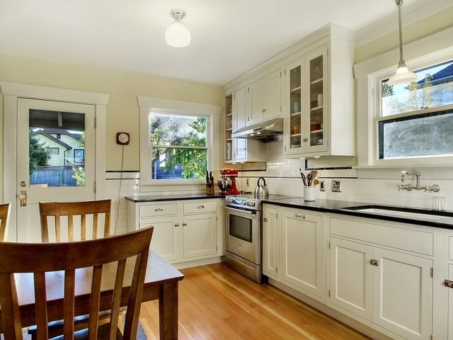 Finished Period Kitchen 1925 Craftsman Bungalow White
