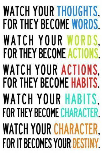 'Watch Your Thoughts Colorful Motivational' Prints - | AllPosters.com