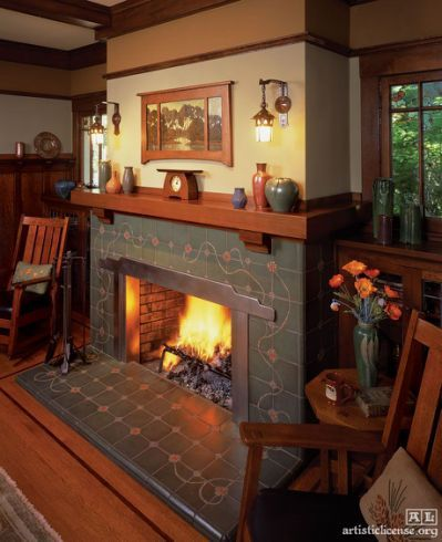 Craftsman Style Fireplace Mantels #craftsmanstylehomes