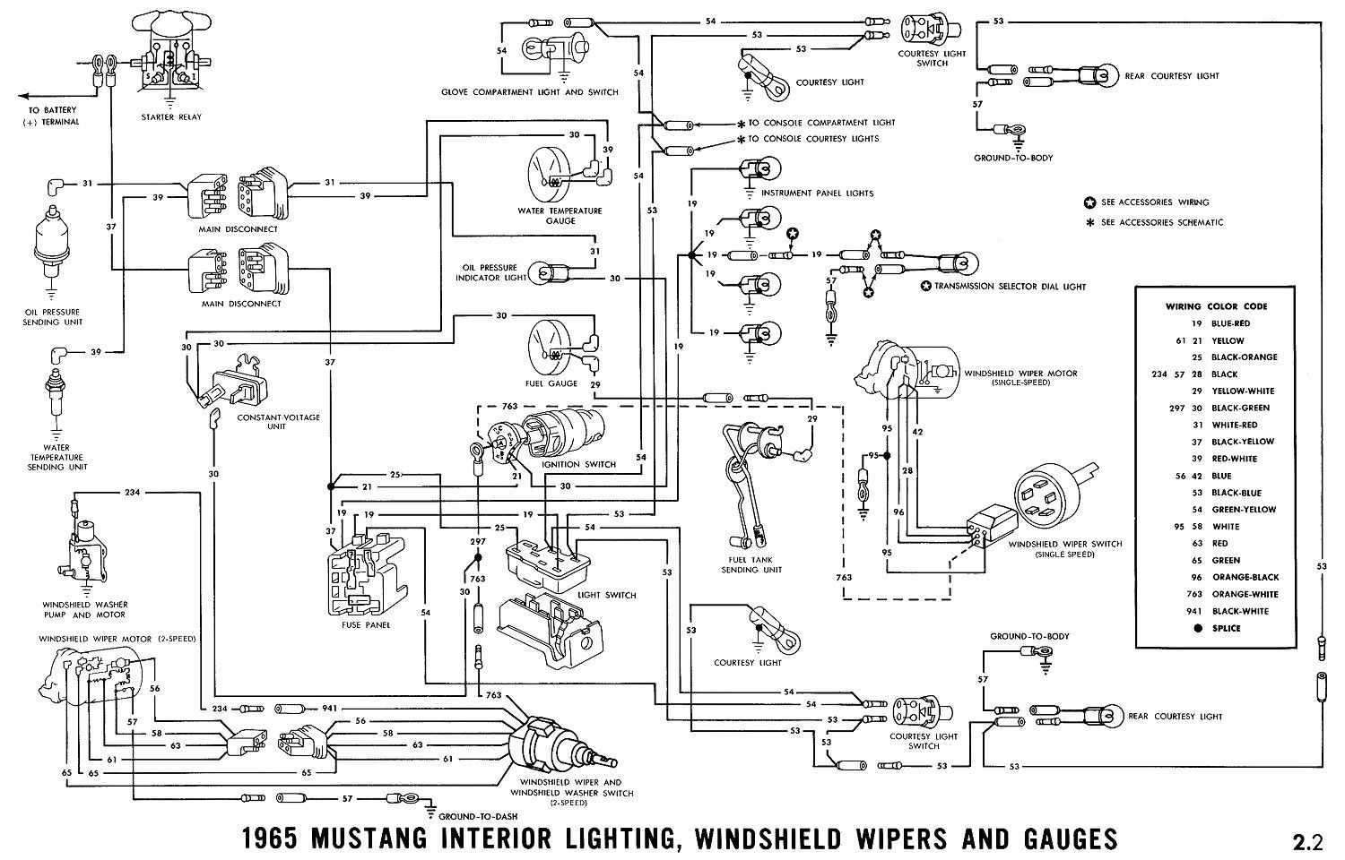 Awesome 1965 Mustang Ignition Switch Wiring Diagram Di 2020