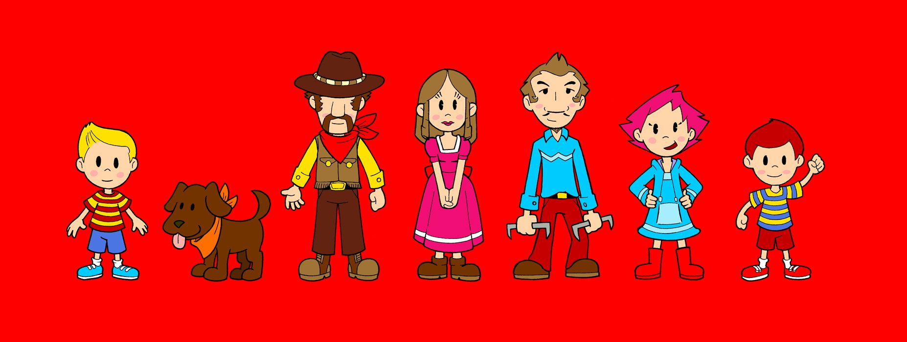 Mother 3 characters | Earthbound/Mother | Blonde kids, It