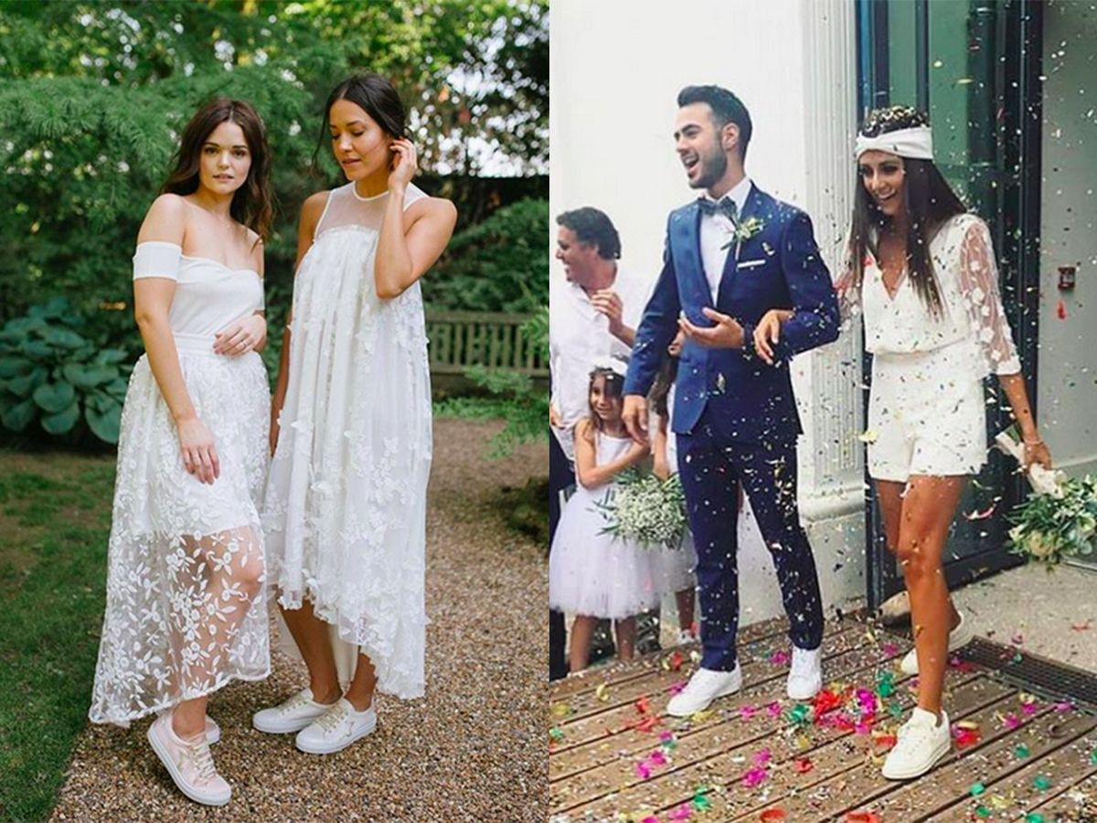 Bridal Sneakers Slay It Like Serena Williams The Edit Pazzion Wedding Dress Pictures Affordable Wedding Dresses Bridal Sneakers [ 900 x 1200 Pixel ]