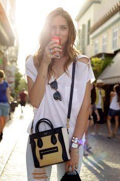 Celine black beish and white little crossbody bag  4a2809bfeba4f