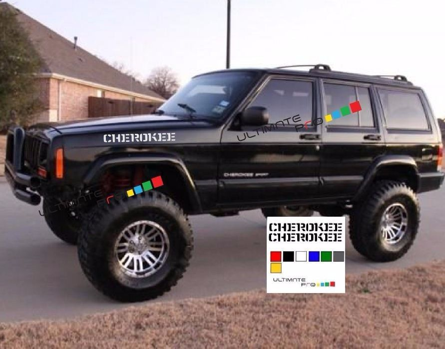 Sticker For Jeep Cherokee Front Fender Hood Xj Wagoneer Top Of