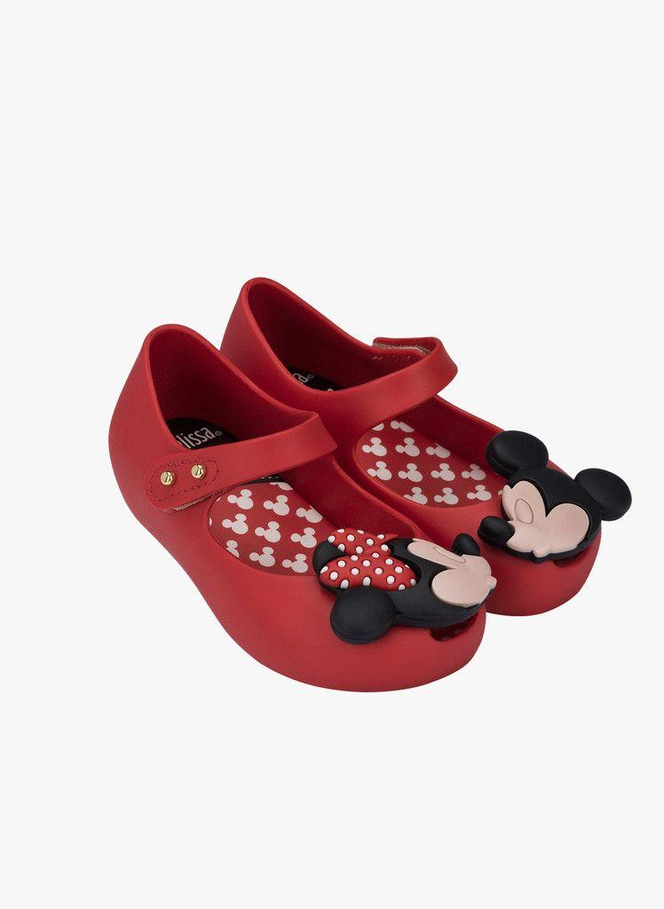 f1b5424b1 Mini Melissa Ultragirl Disney Twins in Red   Toddler   Melissa shoes ...
