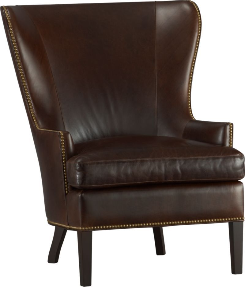 Dylan Leather Wingback Chair Crate and