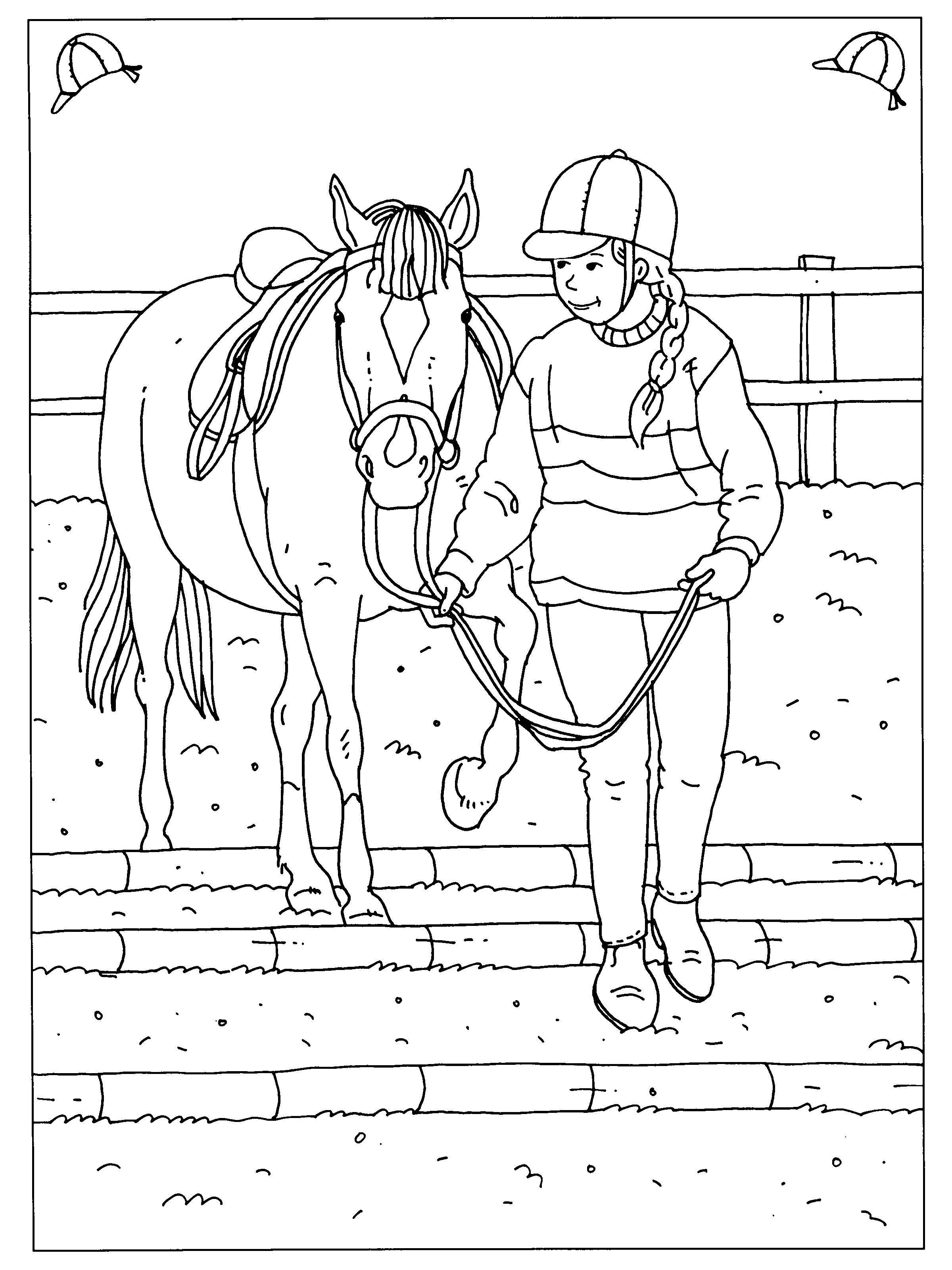 Pin Van Montana Op Coloring Pages Horses Kleurplaten