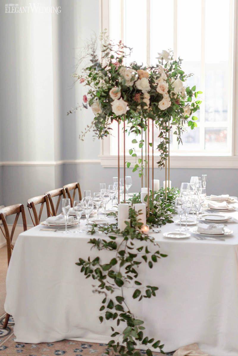 A Neutral Wedding Palette with Greenery   ElegantWedding.ca