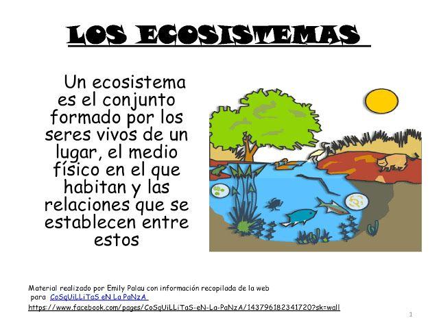 Resultado de imagen de LOS ECOSISTEMAS MAESTRA DE PRIMARIA