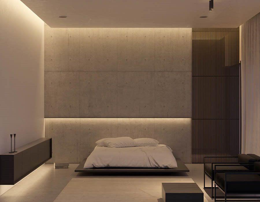 ideen moderne schlafzimmergestaltung lamellenwand   boodeco.findby.co