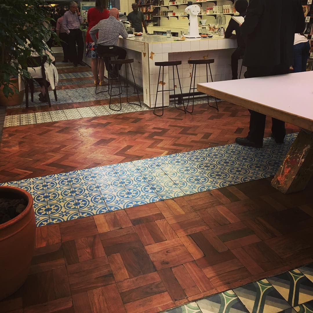 Such a stunning combination of moroccan tiles parquet flooring such a stunning combination of moroccan tiles parquet flooring at exclusive books hyde park dailygadgetfo Gallery