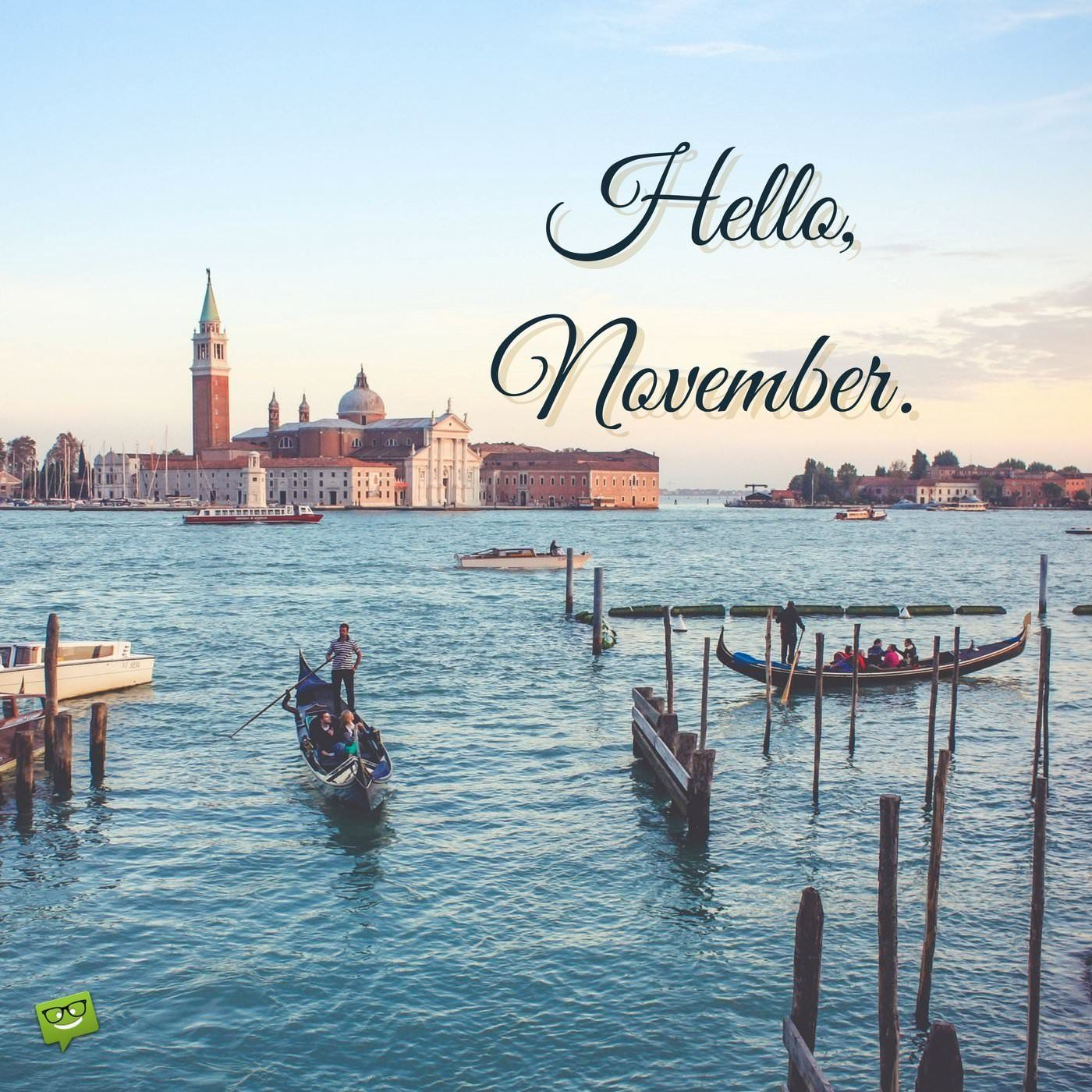 Hello November Months in a year, Hello november, Happy