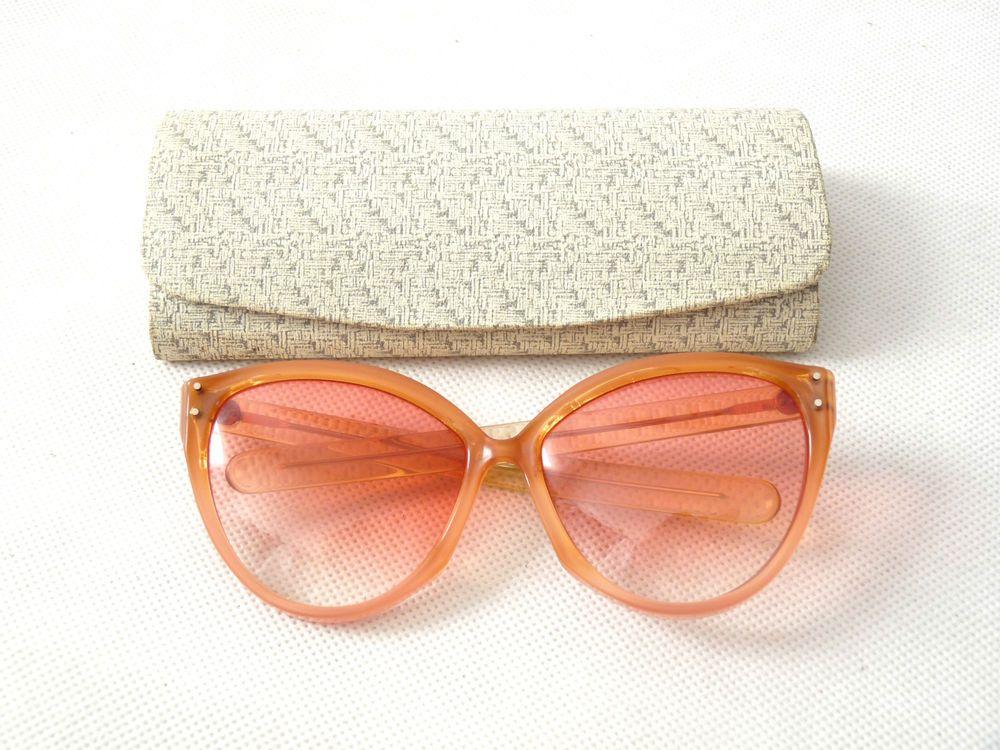 Handmade CUTLER GROSS Rare Cats Gatsby Oversized Sunglasses Vtg 80s Womens