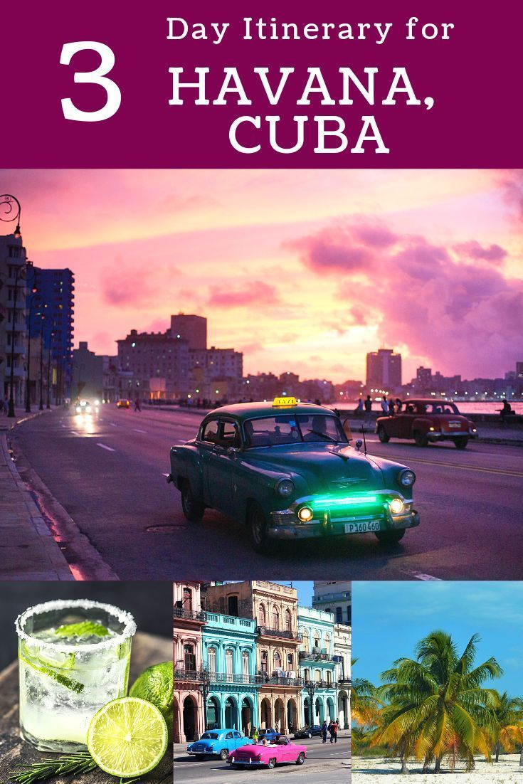 Plan an epic 3 days in Havana, Cuba! #havana #cuba #travelcuba #malecon #elmorro