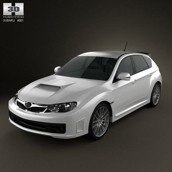 3D Model Of Subaru Impreza WRX STI 2010