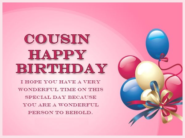 Happy Birthday Quotes Cousin ~ Cousin birthday images wishes messages and quotes for happy