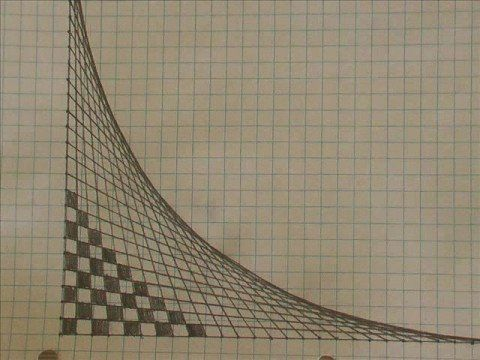 Vector Drawing Straight Lines : How to draw a curved line with only straight lines really weird