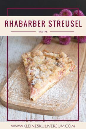 Rhabarber Streuseltorte mit Vanillecreme #frenchvanillacreamerrecipe