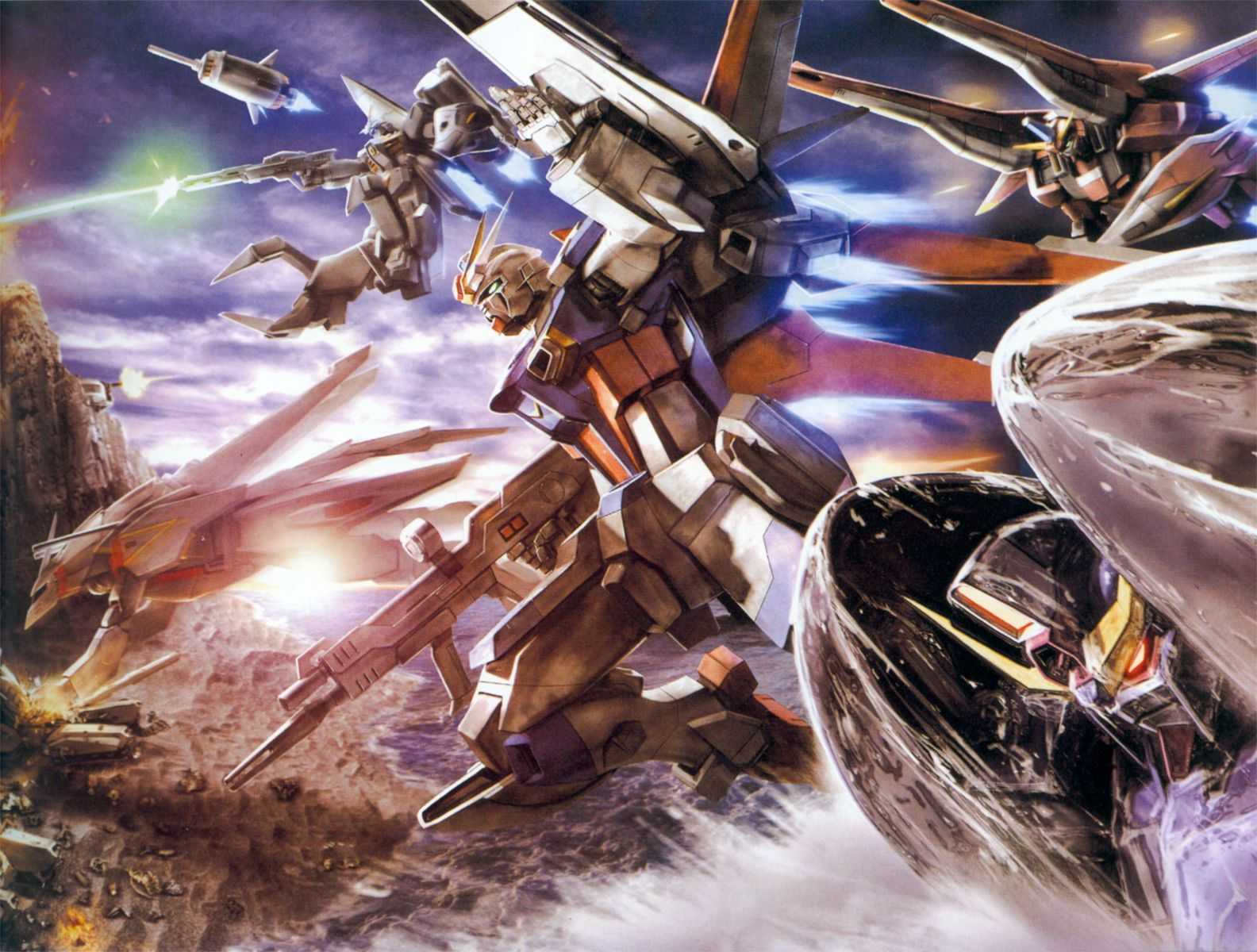Tags: Anime, Mobile Suit Gundam SEED, Strike Gundam, HD Wallpaper, Wallpaper