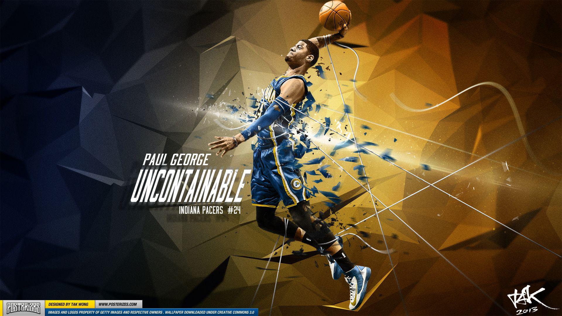 Posterizes Com Nba Wallpaper Artwork: Paul George 'Uncontainable' Wallpaper