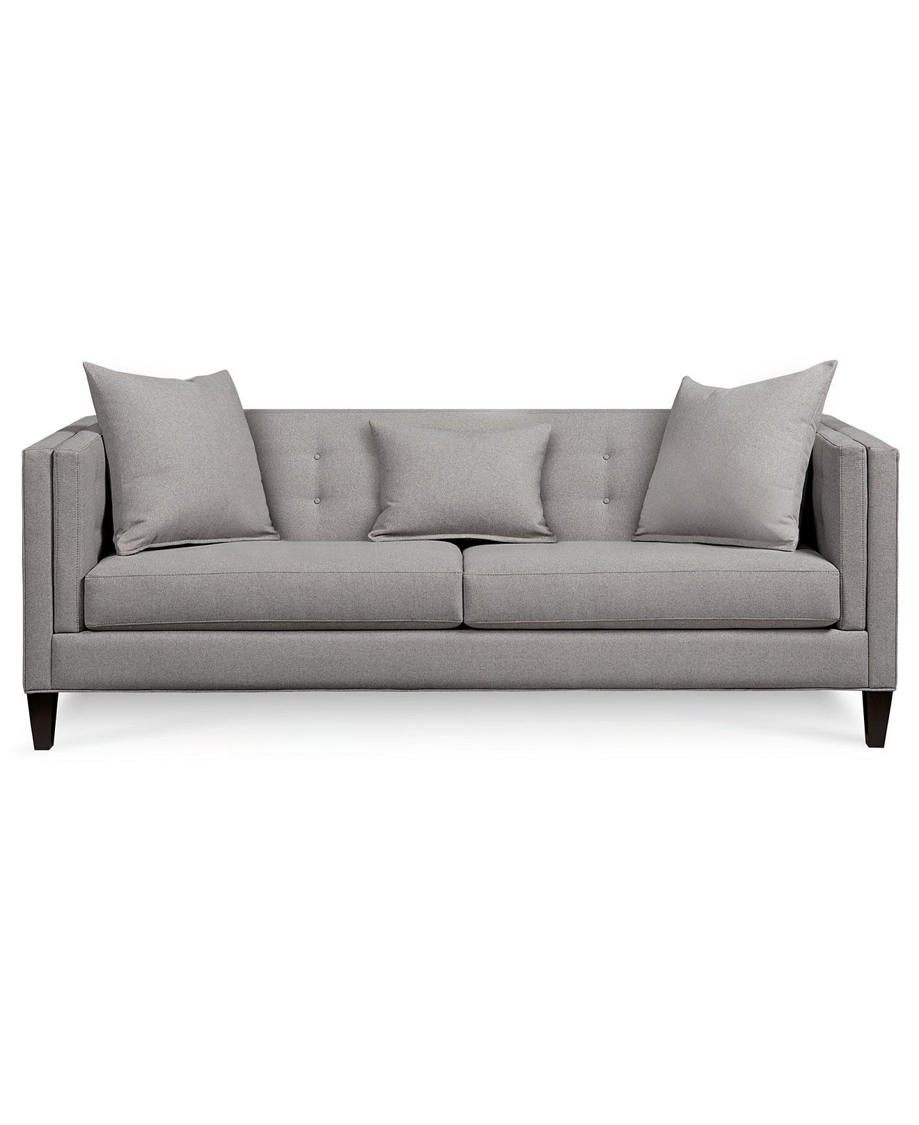 Braylei Track Arm Sofa with 3 Toss Pillows Created for Macy s