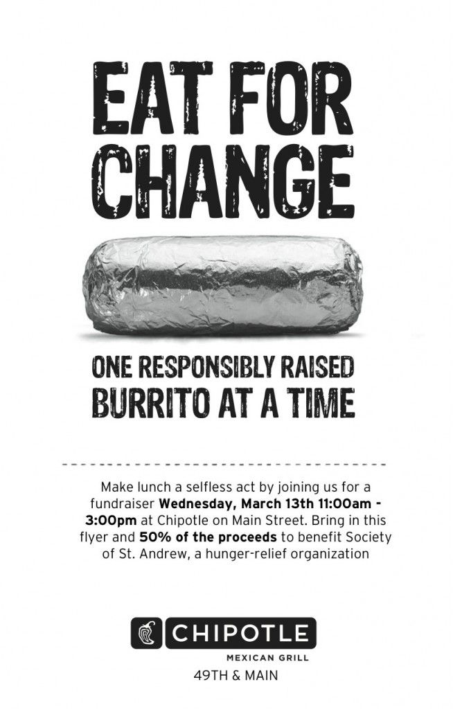 Chipotle fundraiser environmental sustainability pinterest simply visit the chipotle on north charles st in baltimore on monday june between and bring this flyer or mention our fundraiser when you check fandeluxe Images
