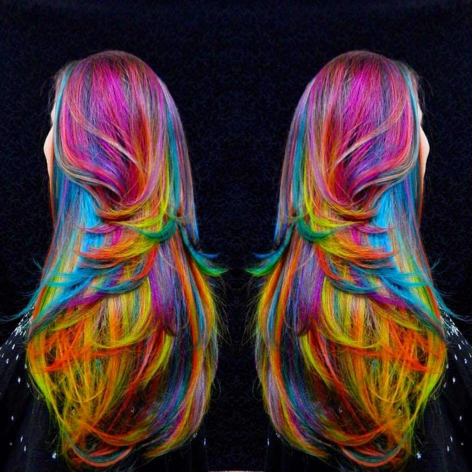 Best 25 Multi Coloured Hair Ideas On Pinterest Bright