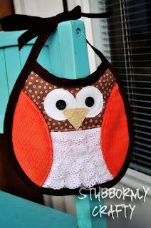 Stubbornly Crafty: Owl Bib