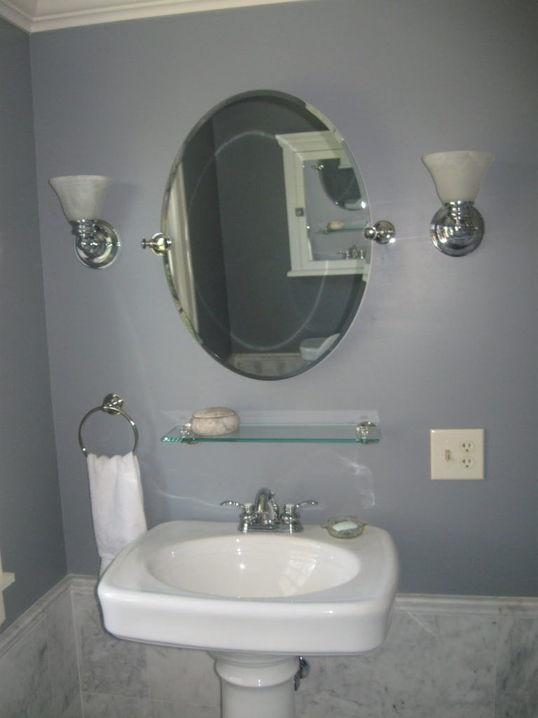 Glass Shelf Above Bathroom Sink